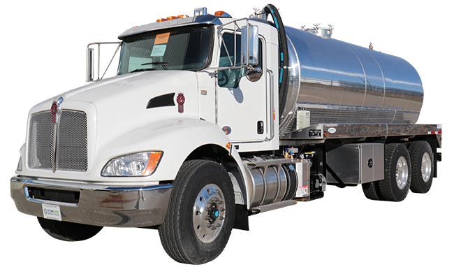 kenworth white cab septic truck