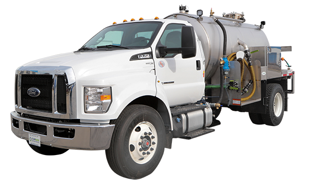 1700 ford white cab vacuum truck