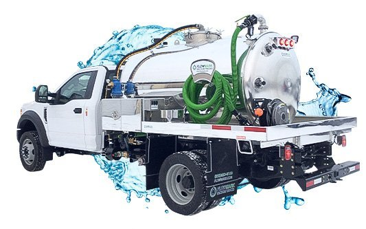 pit cleaner vacuum truck with water splash