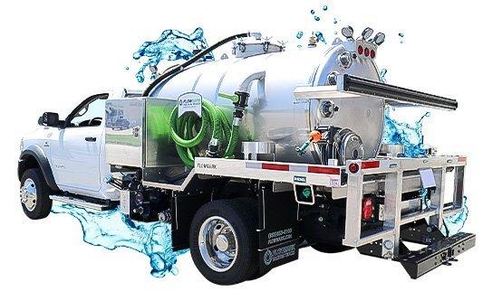 stainless steel vacuum truck with water splash