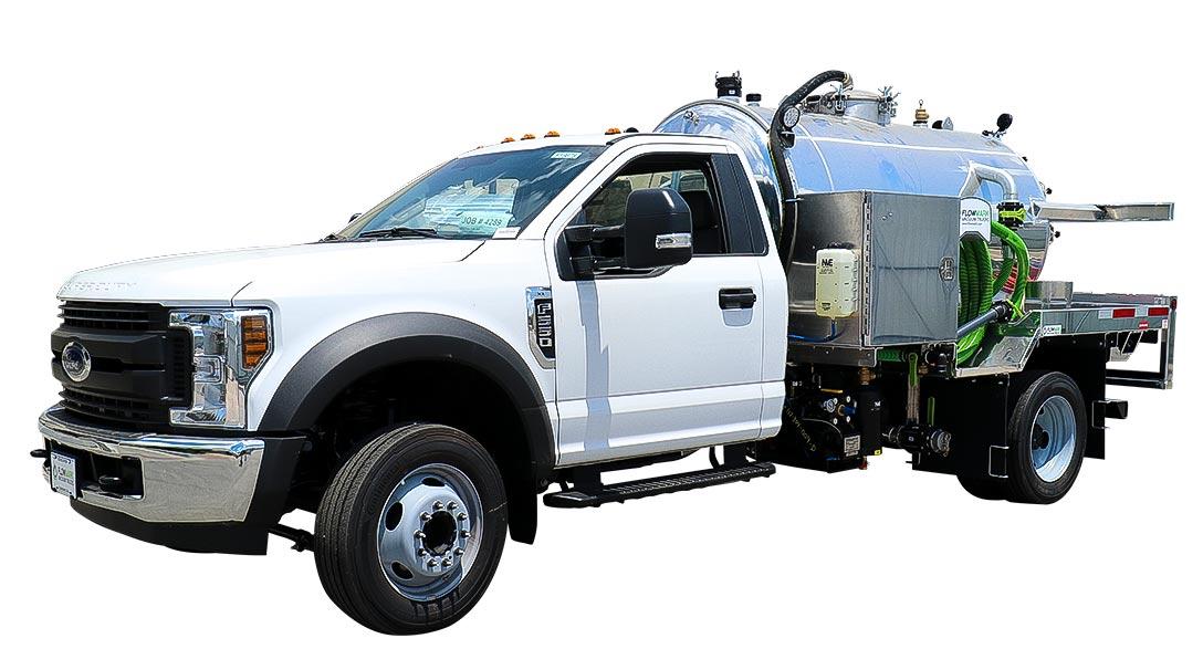 999 ford white cab vacuum truck