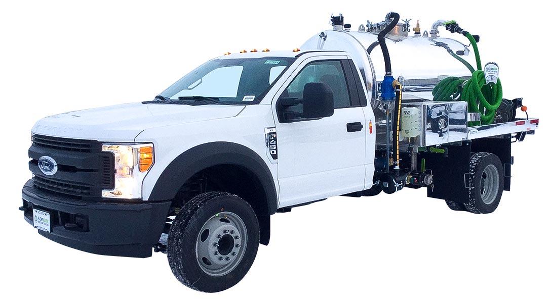 pit cleaner white cab vacuum truck